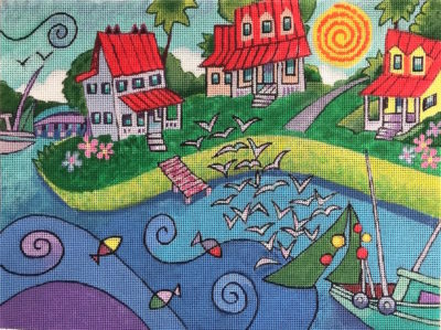 click here to view larger image of Old Village (hand painted canvases)