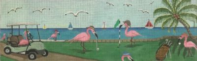 click here to view larger image of Flamingo Fairway (hand painted canvases)