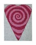click here to view larger image of Hypnotic Heart (hand painted canvases)
