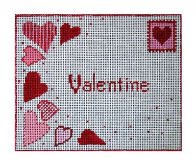 click here to view larger image of Valentine Postcard (hand painted canvases)