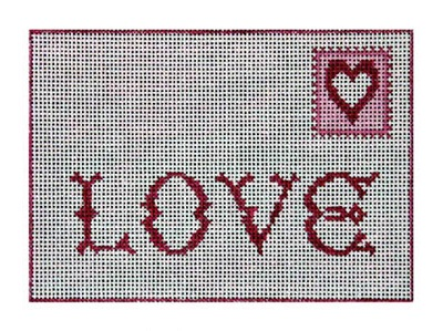click here to view larger image of Love Postcard (hand painted canvases)