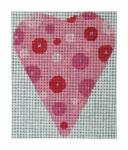 click here to view larger image of Dots on Dots Heart (hand painted canvases)