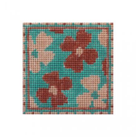 click here to view larger image of Water Flowers Mini (hand painted canvases)