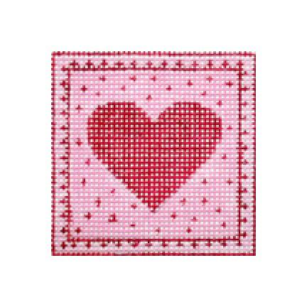 click here to view larger image of Tiny Red Heart (hand painted canvases)