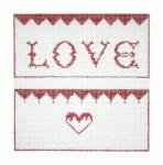 click here to view larger image of Love Envelope (hand painted canvases)