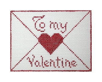 click here to view larger image of To My Valentine (hand painted canvases)