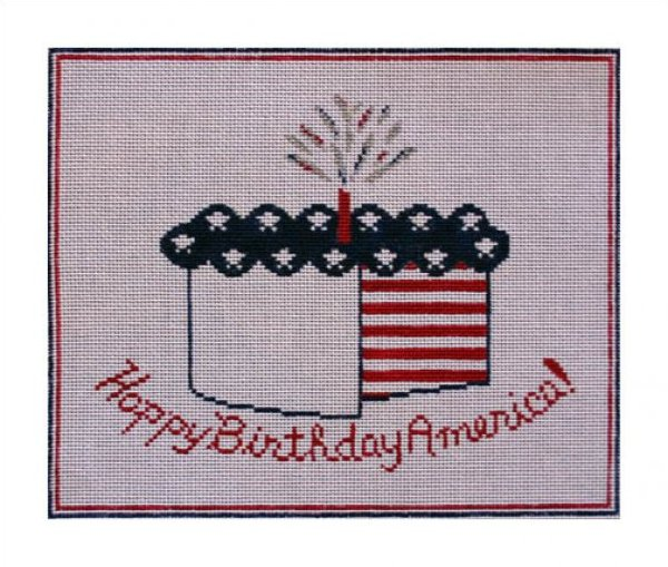 click here to view larger image of Happy Birthday America (hand painted canvases)