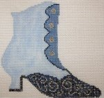 click here to view larger image of Blue Boot (hand painted canvases)