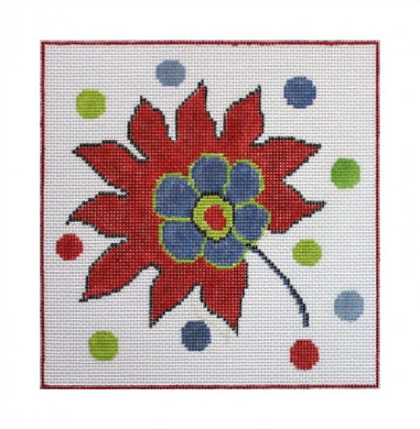 click here to view larger image of Turkey Flower Folio (hand painted canvases)