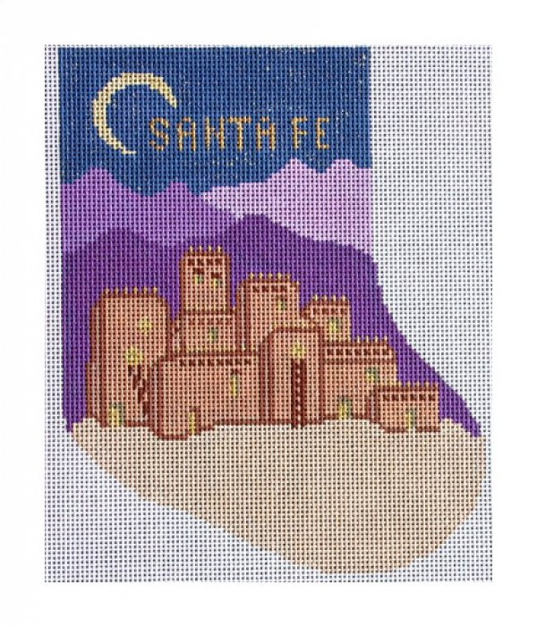 click here to view larger image of Santa Fe Stocking (hand painted canvases)