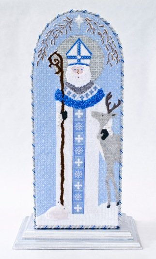 click here to view larger image of Snow St. Nicholas (hand painted canvases)