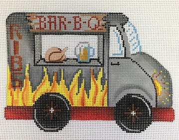 click here to view larger image of Food Trucks Bar-B-Q (hand painted canvases)