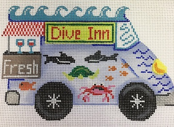 click here to view larger image of Food Trucks Dive Inn (hand painted canvases)