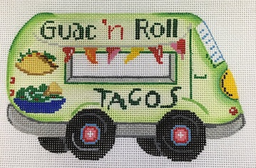 click here to view larger image of Food Trucks Guac n'Roll (hand painted canvases)