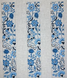click here to view larger image of Blue Floral (hand painted canvases)