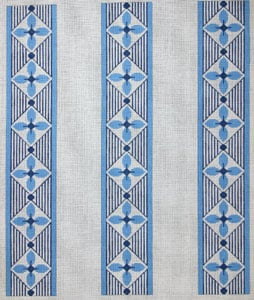click here to view larger image of Blue Geometric (hand painted canvases)