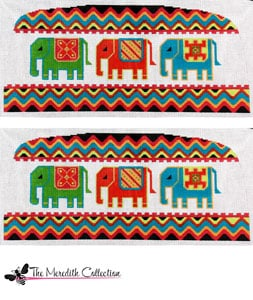 click here to view larger image of Royal Elephant (hand painted canvases)