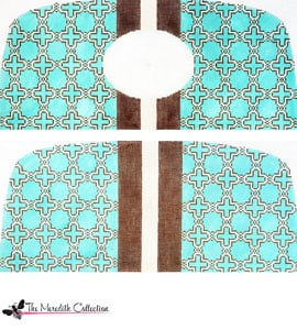 click here to view larger image of Moroccan Tile - Teal (hand painted canvases)