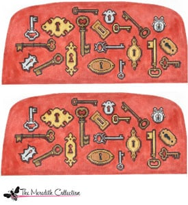 click here to view larger image of Keys and Locks (hand painted canvases)