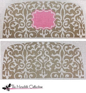 click here to view larger image of Taupe Toile (hand painted canvases)