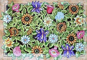 click here to view larger image of Summer Floral Collage (hand painted canvases)