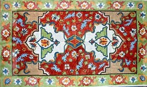 click here to view larger image of Persian Court (hand painted canvases)