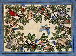 click here to view larger image of American Songbirds (hand painted canvases)
