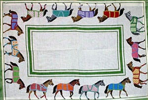 click here to view larger image of Horse Blankets (hand painted canvases)