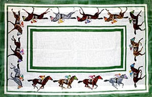 click here to view larger image of Thoroughbred Racehorses (hand painted canvases)