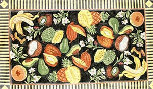 click here to view larger image of Fruit & Flower Collage - Black Background (hand painted canvases)