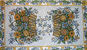 click here to view larger image of Flower Baskets - Floral Border (hand painted canvases)