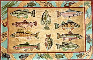 click here to view larger image of Freshwater Game Fish (hand painted canvases)