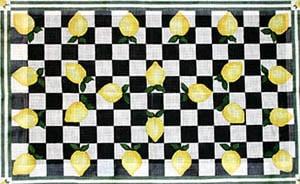 click here to view larger image of Lemons and Checks (hand painted canvases)