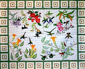 click here to view larger image of Hummingbirds (hand painted canvases)