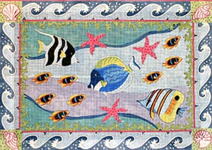 click here to view larger image of Underwater Tropical Fish (hand painted canvases)