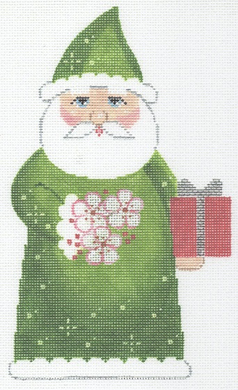 click here to view larger image of May Birthstone Santa (hand painted canvases)