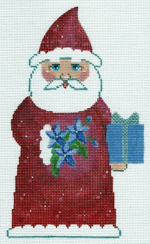 click here to view larger image of July Birthstone Santa (hand painted canvases)