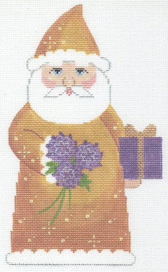 click here to view larger image of November Birthstone Santa (hand painted canvases)