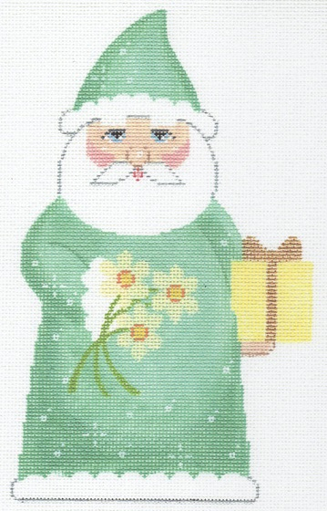 click here to view larger image of December Birthstone Santa (hand painted canvases)