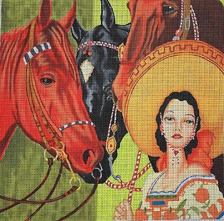 click here to view larger image of Fiesta (hand painted canvases)