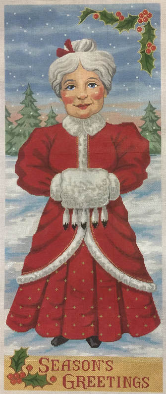 click here to view larger image of Mrs. Santa Season's Greetings - 18 Count (hand painted canvases)
