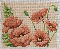 click here to view larger image of Poppies (hand painted canvases)