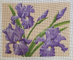 click here to view larger image of Irises (hand painted canvases)