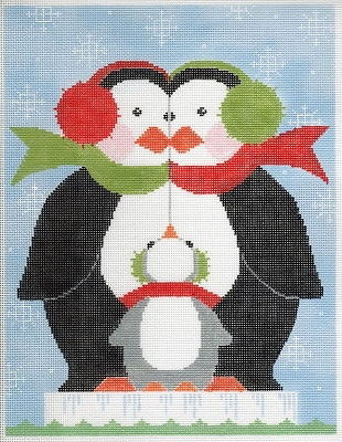 click here to view larger image of Penguin Family (hand painted canvases)