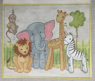 click here to view larger image of Lucy & Leo and Friends (hand painted canvases)