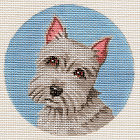 click here to view larger image of Schnauzer Ornament (hand painted canvases)