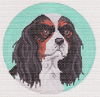 click here to view larger image of Cavalier King Charles Spaniel Ornament (hand painted canvases)