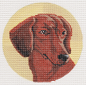 click here to view larger image of Dachshund Ornament (hand painted canvases)