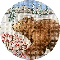 click here to view larger image of Brown Bear Ornament (hand painted canvases)