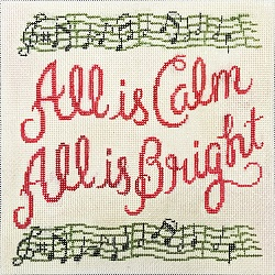 click here to view larger image of All Is Calm, All is Bright (hand painted canvases)